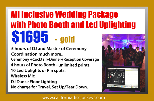 Gold Package DJ Photo Booth Uplighting